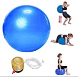 Orpio Body Exercise Workout Anti Burst Gym Ball 75 cm With Foot Pump (Multicolor)