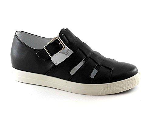 IGI&CO 77890 nero scarpe sandalo donna fibbia pelle cut out Nero
