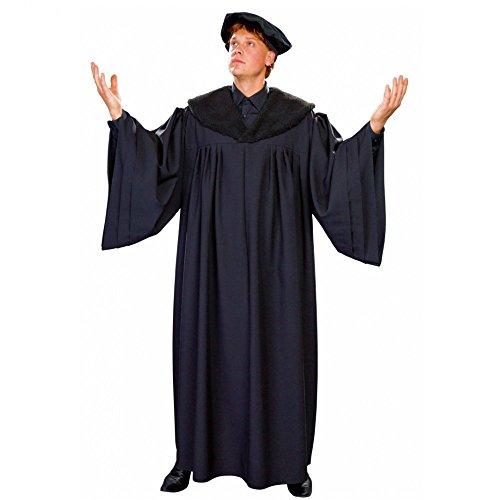 Reformator Kostüm Dr. Martin Luther Professoren Talar Mütze Reformationskostüm