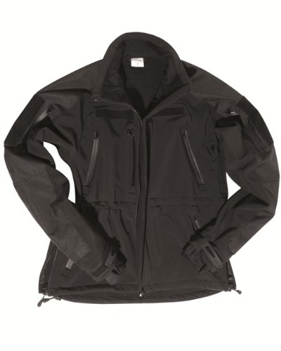 Mil-Tec SOFTSHELLJACKET Plus Black -