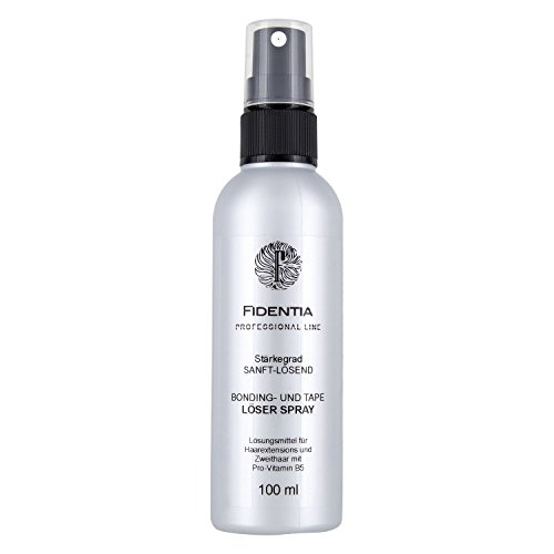 Shampoo Echthaar Perücken (Fidentia Bondinglöser und Tape Löser Spray für Hair Extensions, Perücken und Haarteilen 100ml - Made in Germany)