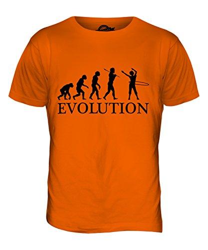 CandyMix Hula Hoop Evolution Des Menschen Herren T Shirt Orange