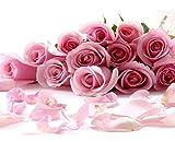 Pintura Diamante Diy Punto De Cruz Rosa Rosa Flores Imagen De Diamantes De Imitación Abalorios Mosaico Rosas Hilo Hobby Artesanía 5D Creativo Regalo Decoracion Navidad