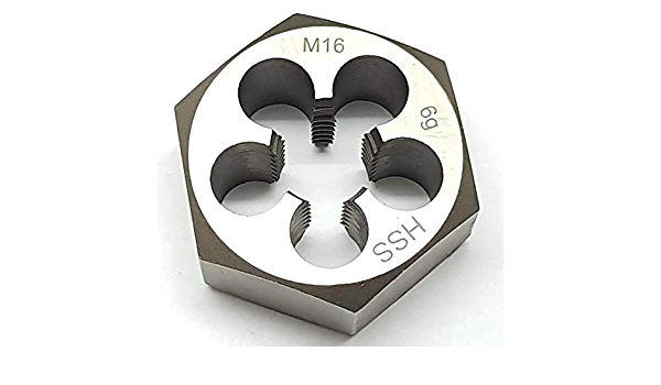 Sechskant Schneidmutter M14 x 1 Feingewinde Schneideisen Qualit/ät HSS DIN 382