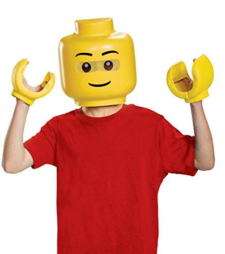 Händen Lego Kostüm - LEGO DISKX14271 Iconic Kostüm, Unisex-Kinder, Maske, Child