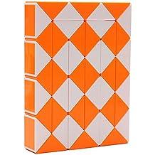 MZStech Magic serpiente Twist Puzzle Twisty Toy Colección 48 cuñas Magic Ruler (naranja)