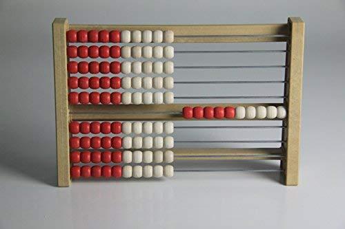100'er Rastrillo Marco rojo de color blanco, Ábaco, Student' s Abacus, rewood®