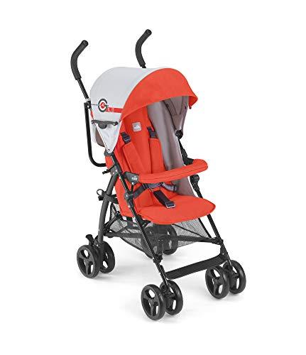CAM Sportwagen & Buggy AGILE ❤ Sitzbuggy leicht kompakt klappbar | Reisebuggy hochwertige Materialien (Space Orange)