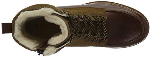 Armani Jeans 9350096a414, Bottes Classics courtes, doublure chaude homme Multicolore (COGNAC 00151)