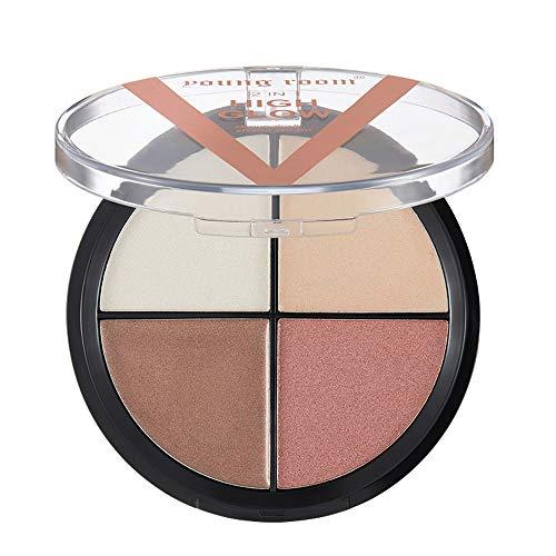 SMILEQ 4 Farbe Wasserdichte Pinsel Lidschattenplatte Pulver Matt Lidschatten Kosmetik Make-Up (1x,...