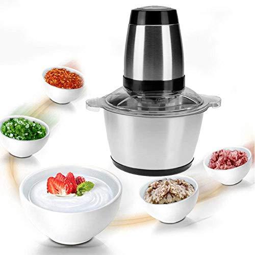 Preisvergleich Produktbild 2L 350 Watt Edelstahl Elektrische Fleischwolf Fleischwolf Maschine Lebensmittel Chopper für Heimgebrauch Küche Fleischwolf