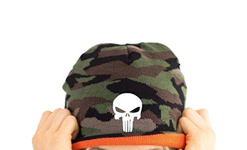 TRVPPY Herren Strickmütze Mütze Beanie mit Thinsulate, Modell Punisher, Camouflage