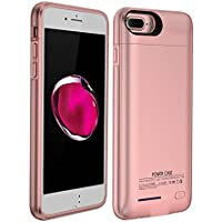 YiYunTE Funda Batería iPhone 7 Plus Case Carcasa Con Batería Cargador-batería Externa Recargable 4300mAh Para iPhone 7 Plus/6S Plus/6 Plus (Oro Rosa)