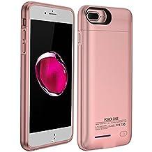 YiYunTE Funda Batería iPhone 6/6S/7 Case Carcasa Con Batería Cargador-Batería Externa Recargable 3000mAh Para iPhone 6/6S/7 (Rosa)