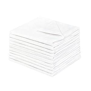Julius Zöllner – Mullwindeln / Spucktücher – 3er oder 10er Pack, 80×80 cm, weiß | premium qualität – schadstoffgeprüft