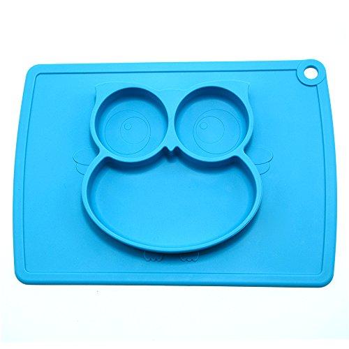 Spiel-platz-matte (Baby Silikon Teller Kinder Tischset Schale Schüssel Geschirr Platzdeckchen Kinder Platzmatte Anti-Rutsch- Essen trennende Platte für Baby, Kleinkinder und Kinder ein BPA-freies)