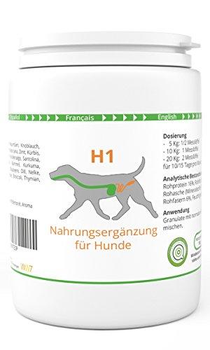 WW7 H1 | Wurm & Darm Formel für Hunde | 150g Premium natürliches Granulat