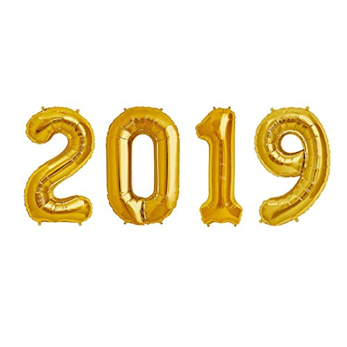 khurana decorative 2019 number gold foil balloon 2019 balloon for happy new year party