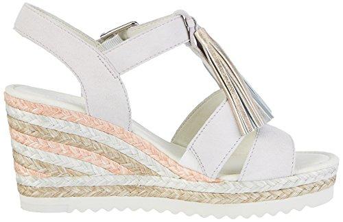 Gabor Shoes Fashion, Sandali con Zeppa Donna Bianco (ice/rame/nude 11)