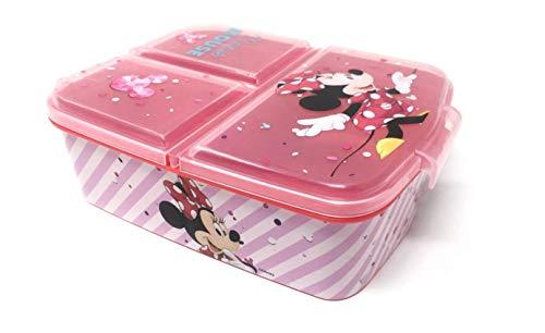 Theonoi Kinder Brotdose / Lunchbox / Sandwichbox wählbar: Frozen PJ Masks Spiderman Avengers - Mickey - Paw aus Kunststoff BPA frei - tolles Geschenk für Kinder (Minnie Mouse) (Frozen Kinder Geschenke)