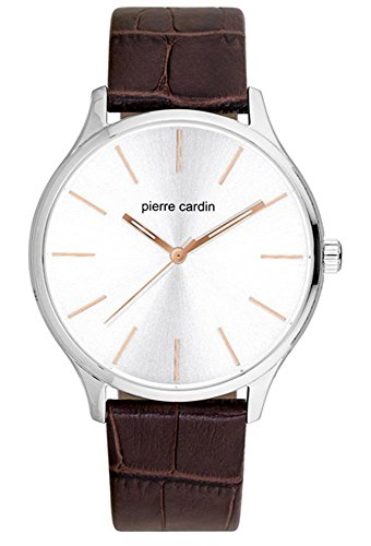 Pierre Cardin Mens Analogue Classic Quartz Watch with Leather Strap PC902151F01