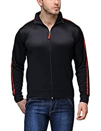 Scott International Dryfit jacket wrinkle free Men's (Black with Red Stripes)
