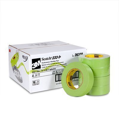 3M (233+36mmx55m) Performance Masking Tape 233+, 26338, 36 mm x 55 m, 16 per case [You are purchasing the Min order quantity which is 16 ROLLS] by Scotch