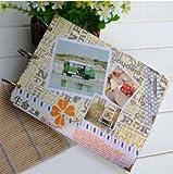 Bluelover DIY-Retro-Alben handgemachte Handbuch Creative paar Baby Bild Buch Home Decor Fotogeschenk-#2 -