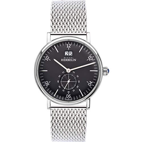 Michel Herbelin Men's Inspiration 40mm Steel Bracelet Quartz Watch 18247/14B