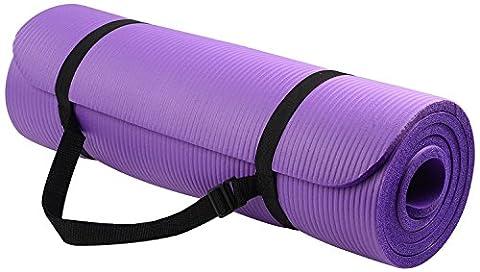irealist haute densité Tapis de yoga avec sangle de transport d'exercice antidéchirures très résistant., Violet