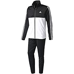 Adidas Back2Bas 3S TS Chándal, Hombre, (Negro Blanco),