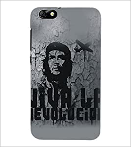 PrintDhaba Bob Marley D-5322 Back Case Cover for HUAWEI HONOR 4X (Multi-Coloured)
