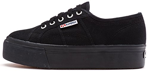 Superga 2790 ACOTW Linea Up Down Women Fashion Shoes in Black 996 [UK 8.5 EU 42.5]