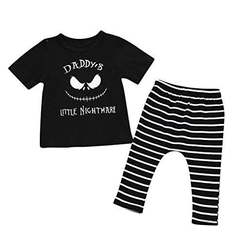 Writtian Kleinkind Baby Jungen Mädchen Cartoon Geist Horror Individualität Brief Drucken Tops + Pants Pullover Hosen Halloween Cosplay Partei Nette Outfits Set