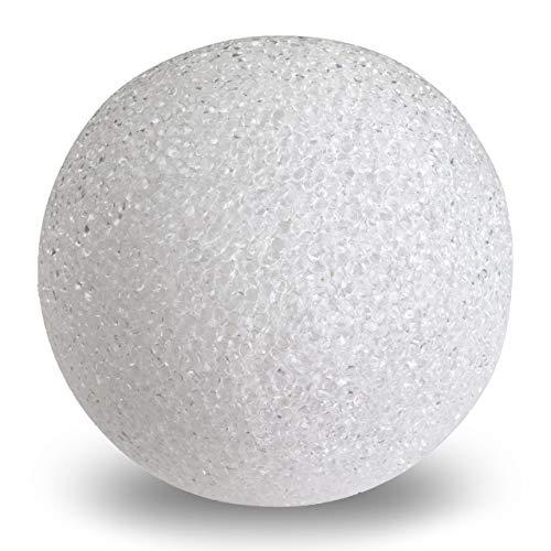 Nipach LED Leuchtkugel Kugelleuchte Deko-Leuchte – runde Lampe zur Dekoration im Wohnbereich – batteriebetrieben Farbe: weiß Kunststoff Ø 15 cm