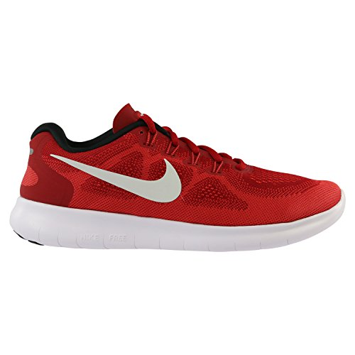 Nike Free Rn 2, Chaussures de Course Homme Rouge (Game Red/off White/track Red)