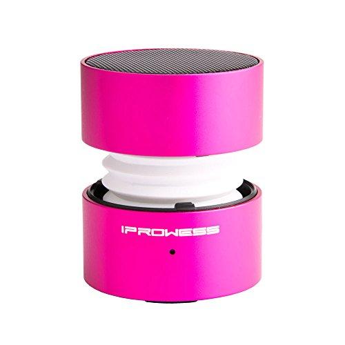 Gladron altavoces portátiles, mini altavoces Bluetooth con 7 colores Led luz de pantalla cambiable, incorporado Mic manos de apoyo Función de llamada gratuita Perfecto para Iphone, Ipad, Mac, Laptop, PC, MP3, MP4, Tablet, Smartphone Android(rosado)