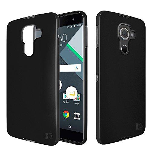 BlackBerry DTEK 60 Custodia. Kingshark ultra caso della copertura della cassa [sottile sottile] gomma flessibile del gel di TPU molle del silicone pelle protettiva per BlackBerry DTEK 60 Nero