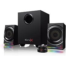 Creative Sound BlasterX Kratos S5 - Sistema de altavoces de juegos 2.1 con iluminación RGB personalizable, color negro