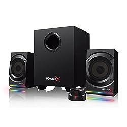 Creative Sound BlasterX Kratos S5 - einstellbarer 2.1 USB Gaming Speaker mit RGB Beleuchtung, schwarz