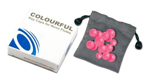 Nuvo n220kcpk Farbige Schlüssel-Kappen Set für Flöten, Rosa -