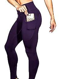 MEIbax Leggings Deportes Pantalones para mujeres de color sólido de las entrenamiento Gimnasio de Fitness Gym