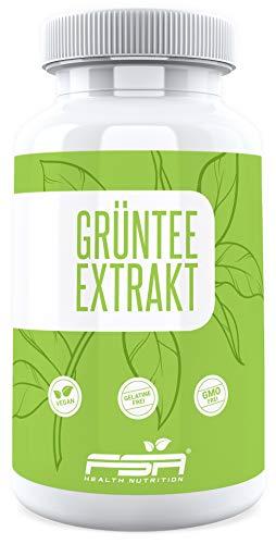 Grüner Tee Extrakt hochdosiert 500mg pro Kapsel von der Profisport Marke FSA Nutrition® | Green Tea | Ohne Füll- und Trennstoffe | Vegan | 90 Kapseln