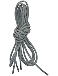 Gris encerado cordones de zapatos de vestir - 2 pares