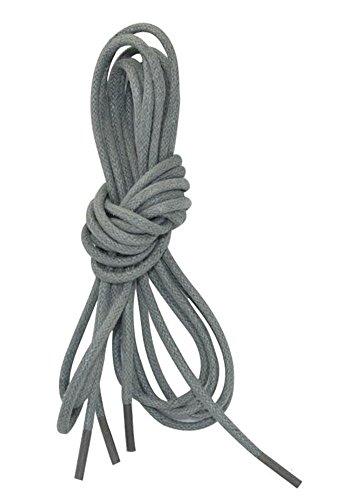 Grau gewichstes Kleid Schuh Schnürsenkel - 2 Paar