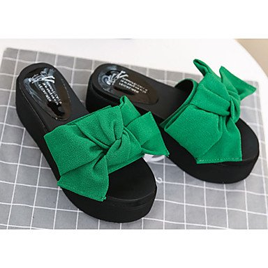 Donne'sstivali Autunno Inverno Comfort PU Abito casual Chunky Heel Zipper Lace-up marrone nero rosso borgogna US6 / EU36 / UK4 / CN36