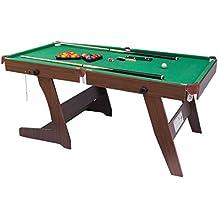 HLC 6 Pies Mesa de Billar Plegable con las bolas y otros accesorios,color Verde