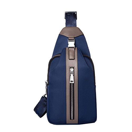 Yy.f Brustbeutel Männer Oxford Tuch Umhängetasche Brustbeutel Mannsporttasche Schlug Farbe Taschen Praktische Innen Farbe 2 Blue