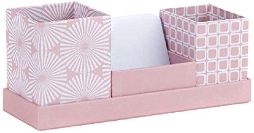 Rössler 13131150000 Graphics Schreibtisch Organizer mit Notizzettel, rose