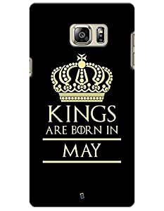 myPhoneMate Kings Born in May Designer Printed Hard Matte Mobile Case Back Cover for Samsung Galaxy Note 5
